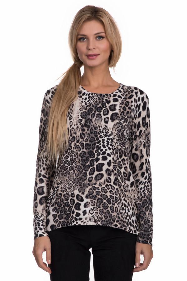 Пуловер Gerry WeberПуловеры<br>Пуловер Gerry Weber леопардовой расцветки женский. Эта модель выглядит очень выигрышно за счет материала. В таком пуловере трудно оставаться незамеченной. Изделие удобно и комфортно в носке. Лучше всего сочетается с однотонными брюками и юбками, так как само является доминантой гардероба. Состав ткани: вискоза, полиамид, кашемир, хлопок.<br><br>Размер RU: 48<br>Пол: Женский<br>Возраст: Взрослый<br>Материал: полиамид 25%, вискоза 45%, хлопок 27%, кашемир 3%<br>Цвет: Чёрный