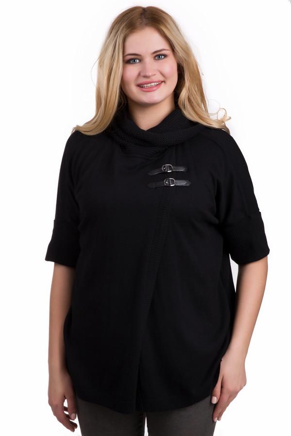 Пуловер Betty BarclayПуловеры<br>Пуловер Betty Barclay черного цвета. Модель интересного и необычного дизайна. Свободный силуэт, мягкий ворот и застежка на пряжки вверху лифа изделия – ее яркие черты. Длина рукава - до локтя. Состав ткани: полиамид, вискоза, шерсть, хлопок, полиакрил, кашемир. Эта вещь отлично комбинируется с облегающими брюками и приталенными юбками.<br><br>Размер RU: 48<br>Пол: Женский<br>Возраст: Взрослый<br>Материал: полиамид 30%, вискоза 35%, хлопок 16%, шерсть 5%, полиакрил 10%, кашемир 4%<br>Цвет: Чёрный