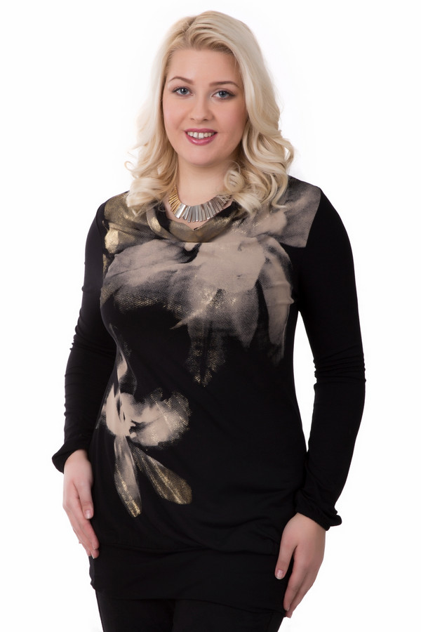 Блузa Betty BarclayБлузы<br>Блузa Betty Barclay женская. Эта модель стройнит за счет своего темного цвета. И вместе с тем она выглядит нарядно: модный абстрактный принт на лифе с золотым напылением выглядит просто великолепно! Такую блузу можно надеть на праздник, а потом носить ее в будни. Состав ткани: вискоза плюс эластан. Это идеальный комби-партнер!<br><br>Размер RU: 44<br>Пол: Женский<br>Возраст: Взрослый<br>Материал: эластан 8%, вискоза 92%<br>Цвет: Разноцветный
