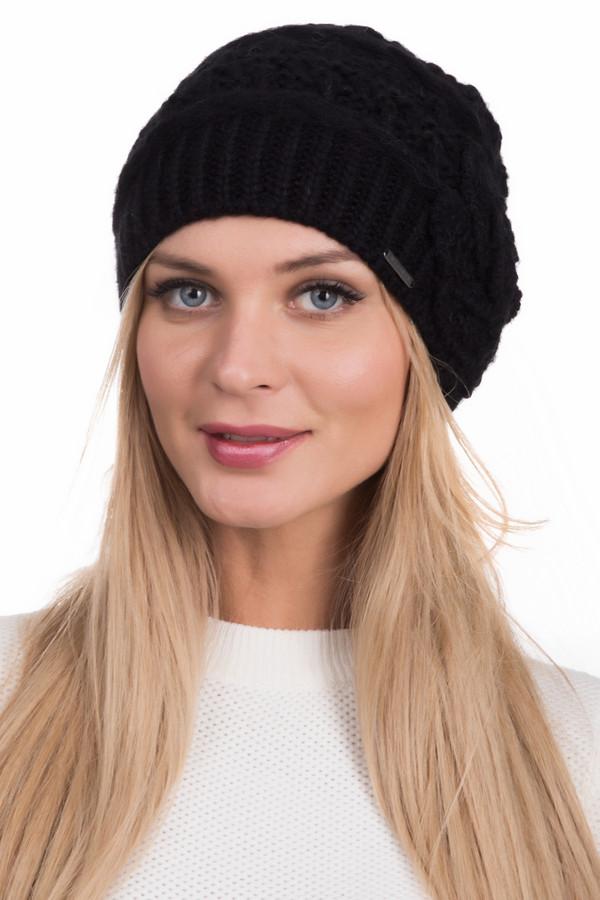 Шапка WegenerШапки<br>Красивая женская шапка Wegener черного цвета. В состав изделия входит шерсть, полиакрил, альпака и мохер. В зимний сезон будет наиболее комфортной благодаря своей теплой текстуре. Универсальна, будет хорошо сочетаться с разнообразной верхней одеждой, как с теплыми курками, так и с парками и дубленками. Украшает модель вывязанный цветок слева.<br><br>Размер RU: один размер<br>Пол: Женский<br>Возраст: Взрослый<br>Материал: шерсть 35%, полиакрил 50%, альпака 5%, мохер 10%<br>Цвет: Чёрный