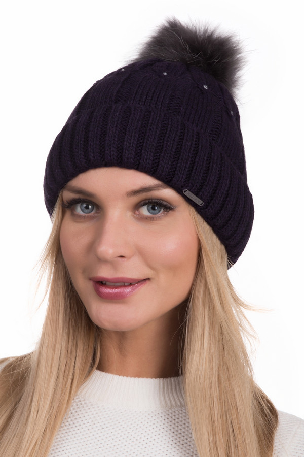 женская шапка wegener, коричневая