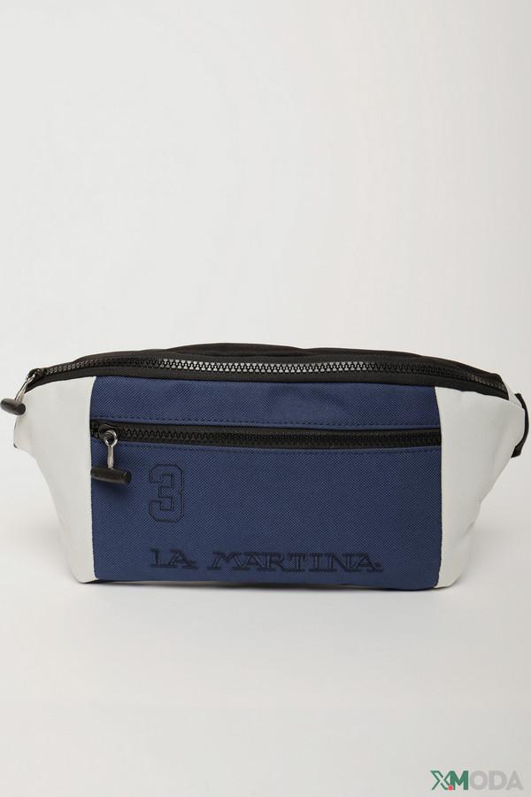 мужская сумка la martina, синяя