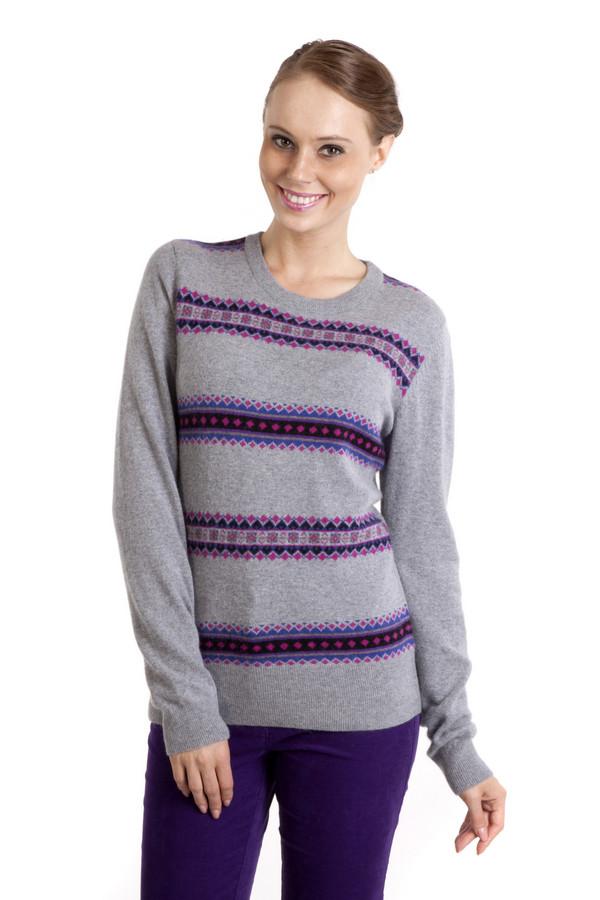 Пуловер PezzoПуловеры<br>Элегантный трикотажный пуловер Pezzo серого цвета приталенного кроя со скандинавским вязанным рисунком. Изделие дополнено: круглым вырезом и длинными рукавами. Ворот, манжеты и нижний кант оформлены трикотажной резинкой.<br><br>Размер RU: 44<br>Пол: Женский<br>Возраст: Взрослый<br>Материал: вискоза 33%, хлопок 18%, полиамид 23%, шерсть 18%, кашемир 4%, ангора 4%<br>Цвет: Серый
