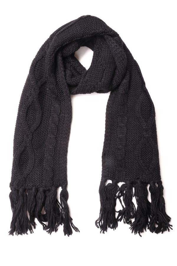 Шарф SportalmШарфы<br>Шарф Sportalm женский черный. Отличный аксессуар для стильных женщин. Сочетание кос разных видов с длинной бахромой – отличительные черты этой прекрасной модели. Благодаря своему цвету и универсальному декору шарф одинаково хорошо будет смотреться и с куртками, и с пальто. Необходимая вещь для женского гардероба зимой. Состав: шерсть плюс полиакрил.<br><br>Размер RU: один размер<br>Пол: Женский<br>Возраст: Взрослый<br>Материал: шерсть 30%, полиакрил 70%<br>Цвет: Чёрный