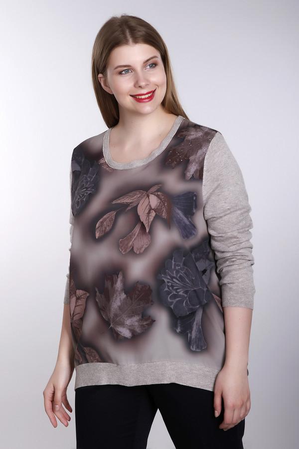Купить Пуловер Samoon, Китай, Разноцветный, шерсть 25%, полиамид 30%, вискоза 45%