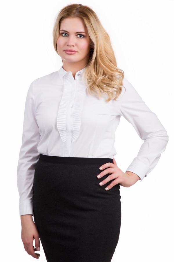Блузa ErfoБлузы<br>Блузa Erfo белая. Модель с плиссированным жабо – воплощение элегантности и женственности. Эта блуза с застежкой спереди – отличная вещь для стильного женского гардероба. Сочетание строгости и игривости – главный козырь этой вещи. Блуза из хлопка очень приятна на ощупь и к телу, добавление эластана делает ее еще более комфортной в носке. Демисезонное изделие.<br><br>Размер RU: 50<br>Пол: Женский<br>Возраст: Взрослый<br>Материал: хлопок 97%, полиэстер 3%<br>Цвет: Белый