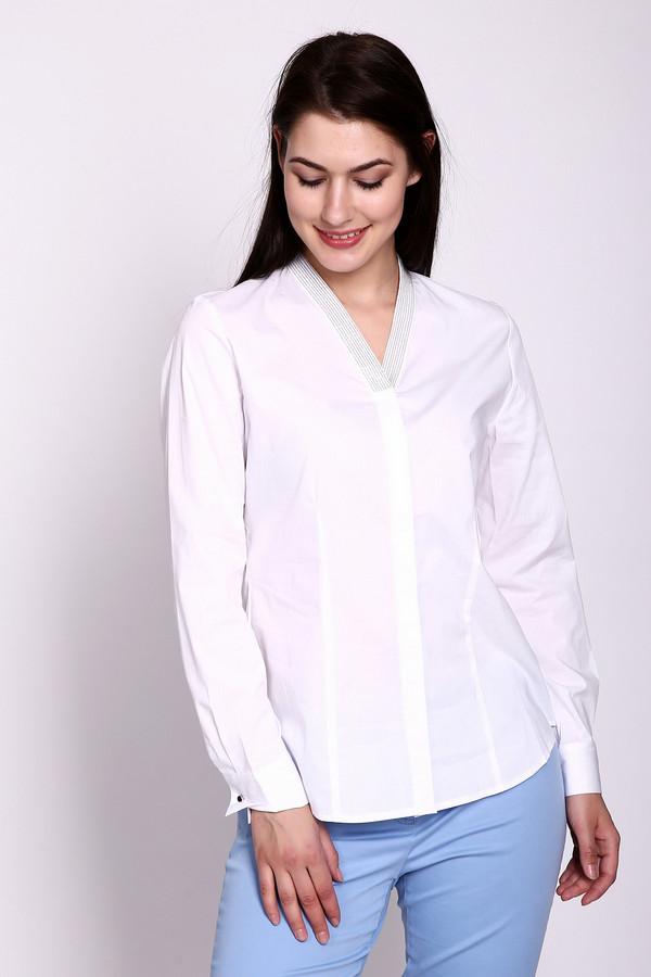 Блузa ErfoБлузы<br>Блузa Erfo белая. Просто и со вкусом – это про данную модель. Треугольный вырез горловины украшен мелкими мерцающими бусинами, что делает эту блузу оригинальной и такой женственной. Состав ткани: хлопок плюс полиэстер. Блуза снабжена потайной застежкой спереди. Эта демисезонная модель будет особенно хороша для офиса.