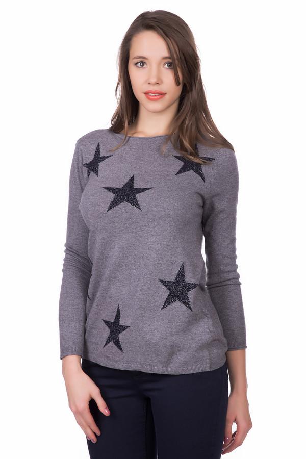 Пуловер Gerry WeberПуловеры<br>Пуловер Gerry Weber с крупными звездами. Такая оригинальная модель сделает Вас звездой любой компании. Традиционный серый цвет в сочетании с блестящим контрастным рисунком станет изюминкой наряда. В своем составе пуловер имеет хлопок, вискозу, полиамид и кашемир. Теплый и нежный, он станет незаменимым предметом гардероба во все времена года.<br><br>Размер RU: 42<br>Пол: Женский<br>Возраст: Взрослый<br>Материал: полиамид 25%, вискоза 45%, хлопок 27%, кашемир 3%<br>Цвет: Чёрный