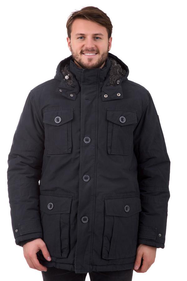 Куртка LerrosКуртки<br>Зимняя куртка Lerros с капюшоном. Модель брутального серого цвета имеет свободный покрой, который регулируется по фигуре, в зависимости от предпочтений владельца. Воротник – высокий, застегивается на кнопки. Четыре больших кармана на пуговицах выполнены подчеркивают мужественность. Капюшон утеплен изнутри, благодаря чему можно не переживать отсутствие головного убора. Модель универсальна по стилю.<br><br>Размер RU: 50-52<br>Пол: Мужской<br>Возраст: Взрослый<br>Материал: полиэстер 36%, хлопок 64%, Состав_подкладка полиэстер 100%<br>Цвет: Серый