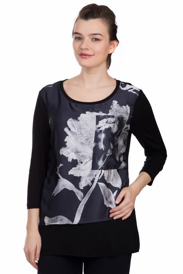 Блузa Betty BarclayБлузы<br>Экстравагантная блуза Betty Barclay с укороченным рукавом. Модель из 94% вискозы с добавлением эластана. Оригинальное сочетание тканей, разных по фактурам, создает особый стиль. Крупная цветочная вставка спереди, декорированная стразами, привлекает внимание и создает настроение праздника. Блуза универсальна для дам разных возрастов и типов фигуры.<br><br>Размер RU: 46<br>Пол: Женский<br>Возраст: Взрослый<br>Материал: эластан 6%, вискоза 94%<br>Цвет: Серый