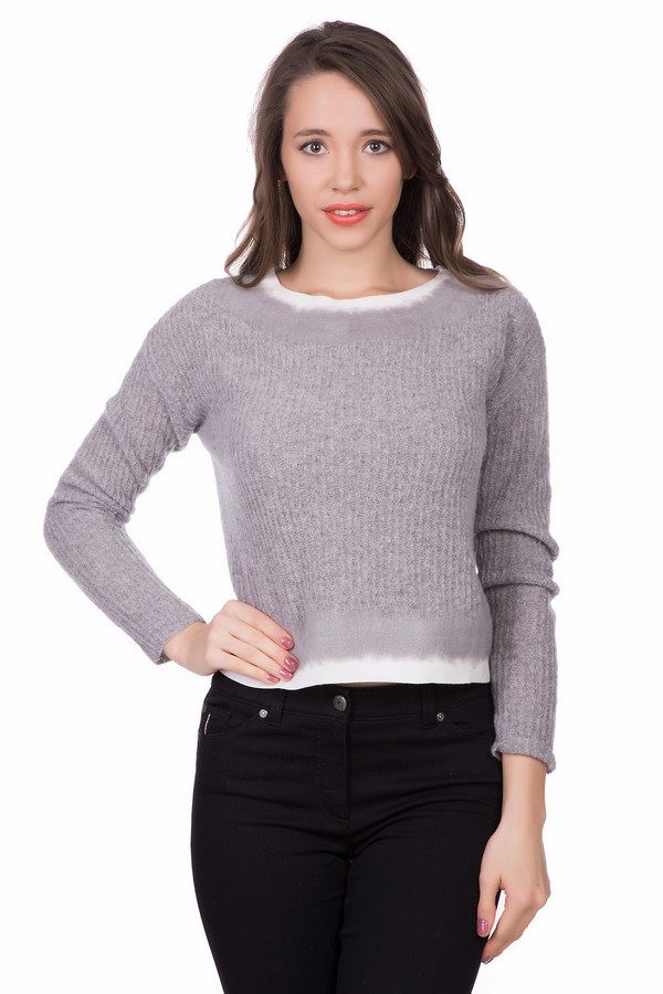 Пуловер Luisa CeranoПуловеры<br>Пуловер Luisa Cerano серо-белый. Такой любимый двойной эффект в этой вещи нашел свое чудесное воплощение. Белый низ – серый верх – отличное сочетание, использованное в этом укороченном изделии. Состав: шерсть плюс полиамид. Носить такую вещь можно с брюками и джинсами различного кроя, юбками, особенно с завышенной талией.<br><br>Размер RU: 48<br>Пол: Женский<br>Возраст: Взрослый<br>Материал: полиамид 20%, шерсть 80%<br>Цвет: Белый