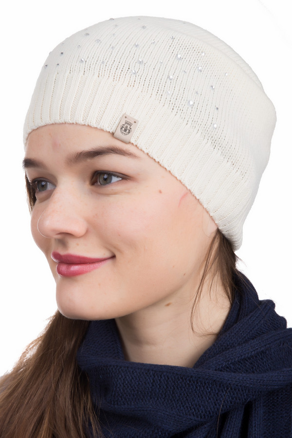 женская шапка roeckl, серебряная