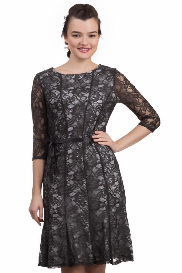 Платье ApanageПлатья<br>Платье Apanage серо-черное. Ажурное изделие – это всегда женственность и элегантность в одном флаконе. В таком платье вы почувствуете себя настоящей леди. Необычный крой, милый атласный поясок и подкладка, которая делает основную часть вещи непрозрачной, - чудесные элементы этого наряда. Состав: вискоза плюс полиамид.<br><br>Размер RU: 42<br>Пол: Женский<br>Возраст: Взрослый<br>Материал: полиамид 25%, вискоза 75%<br>Цвет: Чёрный