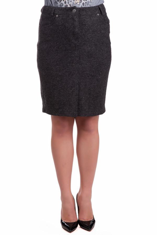 Юбка SteilmannЮбки<br>Шерстяная юбка Steilmann длиной выше колена. Впереди имеет удобную застежку на пуговицу и молнию. Дополнена небольшими задними карманами с аккуратной строчкой. На поясе расположены петли для ремня, благодаря чему удобно ношение юбки с вправленным верхом. Универсальный серый оттенок делает модель уместной в любом стиле.<br><br>Размер RU: 52<br>Пол: Женский<br>Возраст: Взрослый<br>Материал: полиэстер 22%, полиакрил 55%, шерсть 23%<br>Цвет: Серый