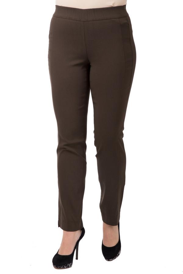 Брюки SamoonБрюки<br>Удобные брюки с эластичным верхом коричневого цвета. Высокая посадка делает фигуру утонченной и выигрышно вытягивает силуэт. 78%-ое содержание вискозы в составе создает чувство мягкости. Обтягивающий фасон не сковывает движений, отлично ведет себя в процессе повседневной носки. В теплый весенний период к брюкам можно подобрать классические туфли, а осенью носить с сапогами на плоской подошве.<br><br>Размер RU: 46<br>Пол: Женский<br>Возраст: Взрослый<br>Материал: эластан 2%, полиамид 20%, вискоза 78%<br>Цвет: Коричневый