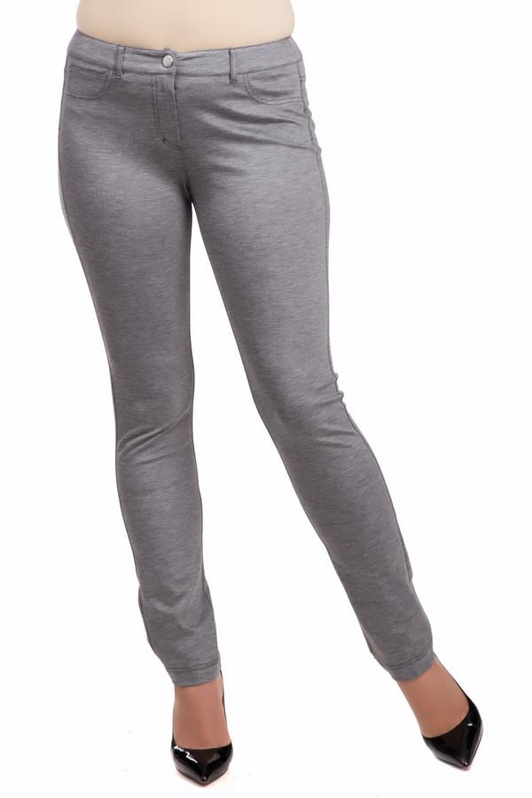 Брюки TuzziБрюки<br>Брюки Tuzzi серые. Эта модель очень комфортна и приятна к телу. По своему крою она напоминает джинсы. Типичный для них дизайн воплощен здесь в необычном решении – в другой ткани. Модель снабжена карманам спереди и накладными – сзади. Состав: эластан, вискоза, полиамид. Носить такие брюки можно как с облегающими, так и со свободными блузами, топами, футболками.<br><br>Размер RU: 48<br>Пол: Женский<br>Возраст: Взрослый<br>Материал: эластан 4%, вискоза 67%, полиамид 29%<br>Цвет: Серый