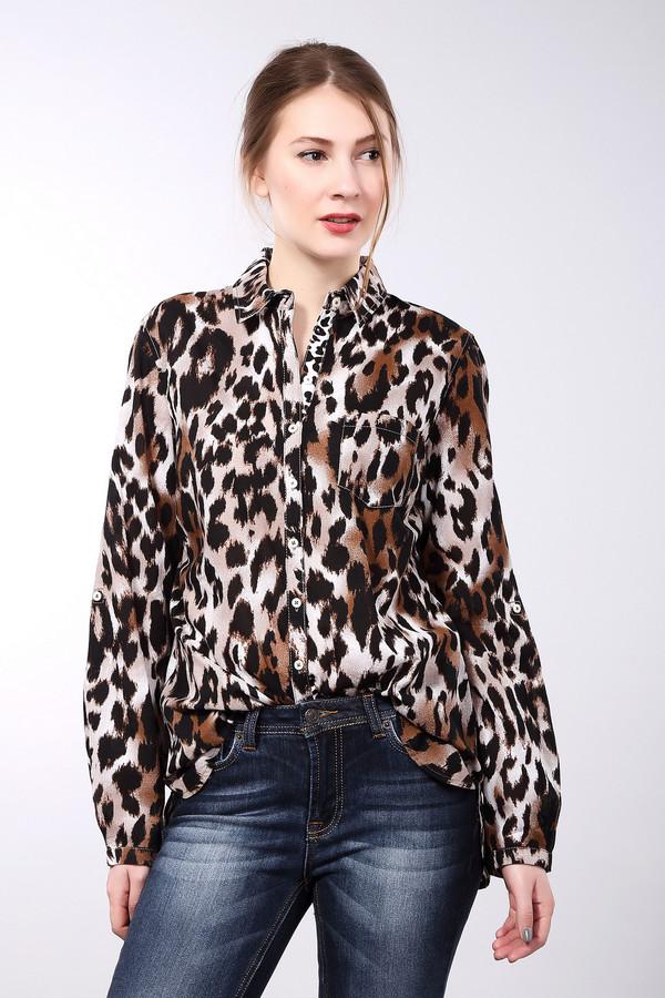Рубашка с длинным рукавом Gerry WeberДлинный рукав<br>Абсолютно натуральная рубашка, классического покроя, с абсолютно неклассической расцветкой. Благодаря такому крою, эту рубашку можно надеть в офис, заправив в брюки или же юбку-карандаш, а звериный принт, при этом, не убавит строгости вашего внешнего вида. Если эту же рубашку надеть с джинсами и не заправляя, она так же годится для отдыха или похода в магазин.<br><br>Размер RU: 44<br>Пол: Женский<br>Возраст: Взрослый<br>Материал: хлопок 100%<br>Цвет: Разноцветный