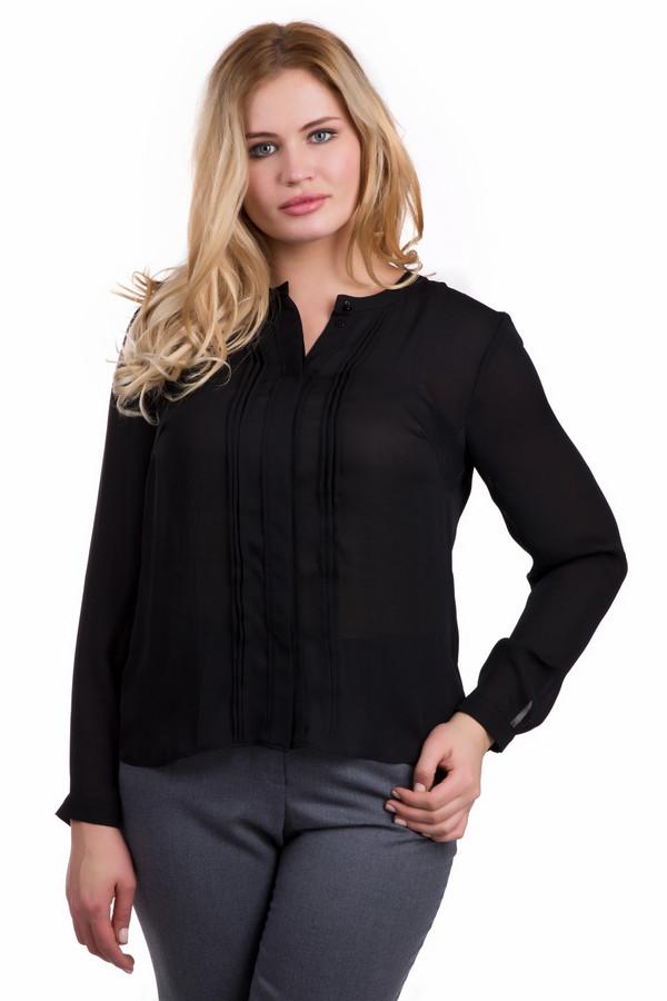 Блузa SteilmannБлузы<br>Блузa Steilmann черная. Модель с потайной застежкой и вертикальными складочками спереди из легкой изящной ткани – один из фаворитов демисезонных коллекций. В такой блузе вы сможете ходить на работу или в гости. В ней всегда удобно и комфортно. Прекрасно комбинируется с деловыми пиджаками и жакетами, а также с непринужденной одеждой – джинсами и юбками современного кроя.<br><br>Размер RU: 46<br>Пол: Женский<br>Возраст: Взрослый<br>Материал: полиэстер 100%<br>Цвет: Чёрный