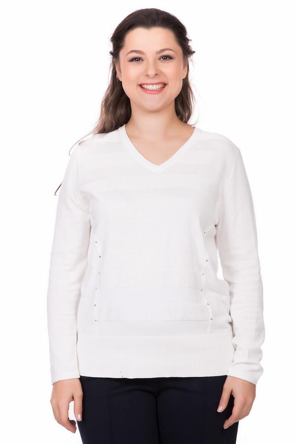 Пуловер Rabe collectionПуловеры<br><br><br>Размер RU: 50<br>Пол: Женский<br>Возраст: Взрослый<br>Материал: вискоза 70%, полиамид 30%<br>Цвет: Белый