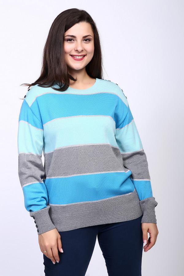 Пуловер Rabe collectionПуловеры<br><br><br>Размер RU: 56<br>Пол: Женский<br>Возраст: Взрослый<br>Материал: полиамид 15%, полиакрил 40%, модал 45%<br>Цвет: Голубой