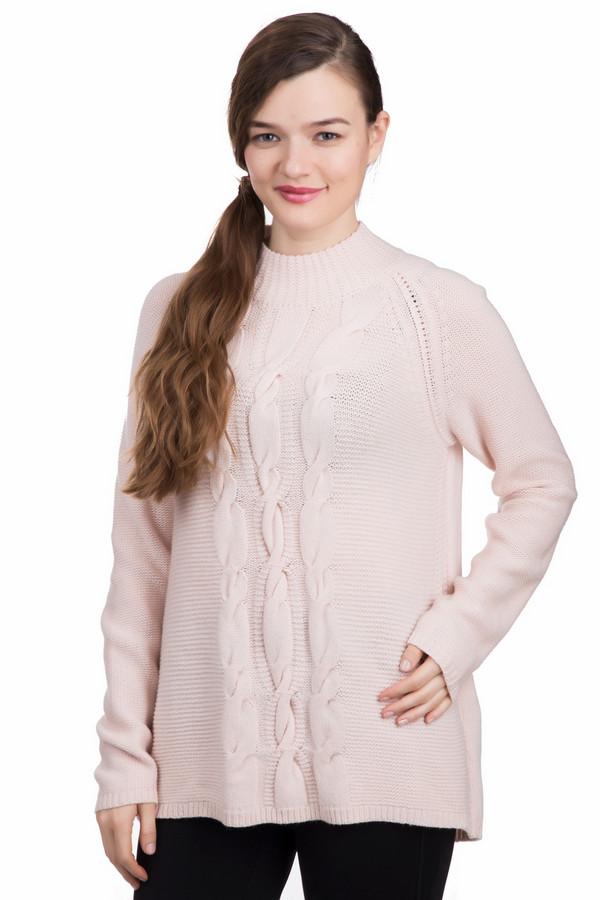 Розовый пуловер с косами с доставкой