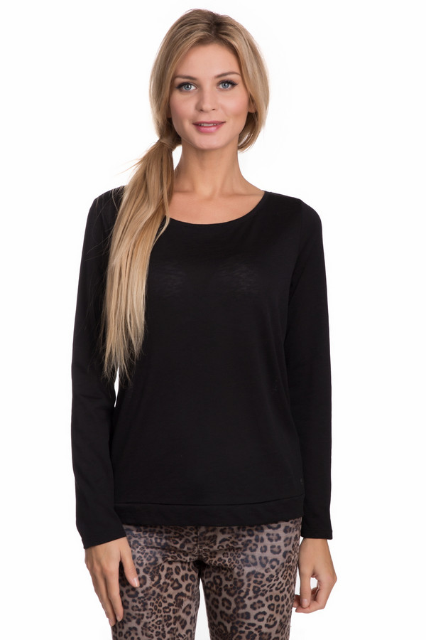 Пуловер QSПуловеры<br>Пуловер QS черный. Эта модель поста и лаконична по своему крою. Сзади она снабжена изящной завязкой на бантик. Отличный выбор для элегантных и практичных женщин. Чудесно сочетается с джинсами, брюками и юбками самых разных расцветок и фасонов. Оптимальный комби-партнер. Состав: хлопок плюс полиэстер.<br><br>Размер RU: 40-42<br>Пол: Женский<br>Возраст: Взрослый<br>Материал: хлопок 40%, полиэстер 60%<br>Цвет: Чёрный