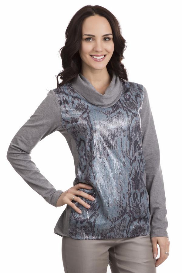 Пуловер Betty BarclayПуловеры<br>Пуловер Betty Barclay женский. Чудесная вещь с необычным сочетанием тканей! Длинный рукав, воротник свободного кроя и мерцающий лиф изделия – секрет успеха прост. Хлопок, из которого изготовлен пуловер, дарит приятнейшие ощущения при касании к коже. Кроме того, ткань содержит эластан. Модель прекрасно прикрывает заднюю часть и превосходно подчеркивает женские прелести. Хорошо комбинируется с брюками разного кроя.<br><br>Размер RU: 50<br>Пол: Женский<br>Возраст: Взрослый<br>Материал: хлопок 92%, эластан 8%<br>Цвет: Разноцветный