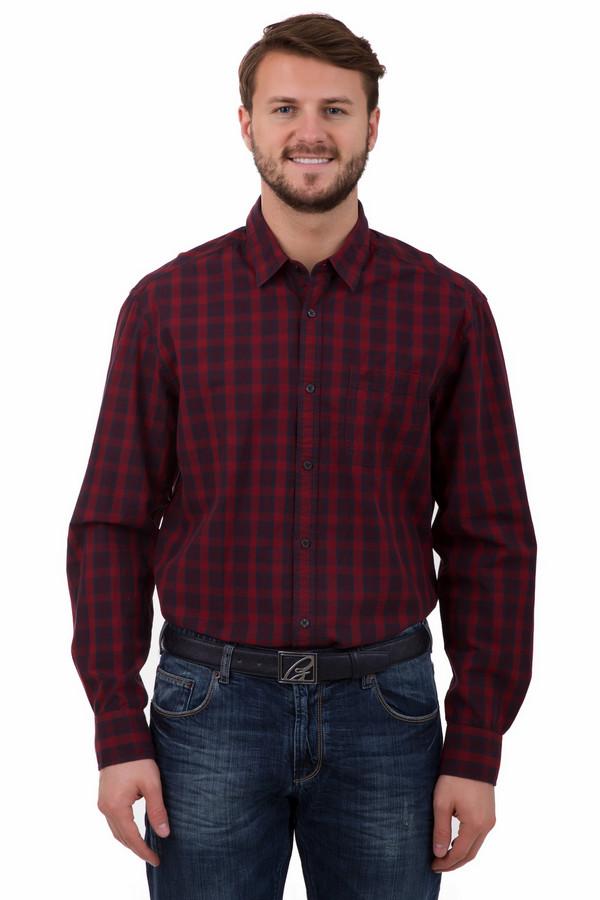 Рубашка с длинным рукавом s.OliverДлинный рукав<br>Рубашка с длинным рукавом s.Oliver в клетку. Сочетание бордового и синего цветов – довольно необычно и при этом гармонично. Такая рубашка хорошо смотрится под джинсы и классические брюки. 100%-ный хлопок делает ее очень комфортной и удобной в носке. Демисезонная и очень функциональная модель.<br><br>Размер RU: 48-50<br>Пол: Мужской<br>Возраст: Взрослый<br>Материал: хлопок 100%<br>Цвет: Синий