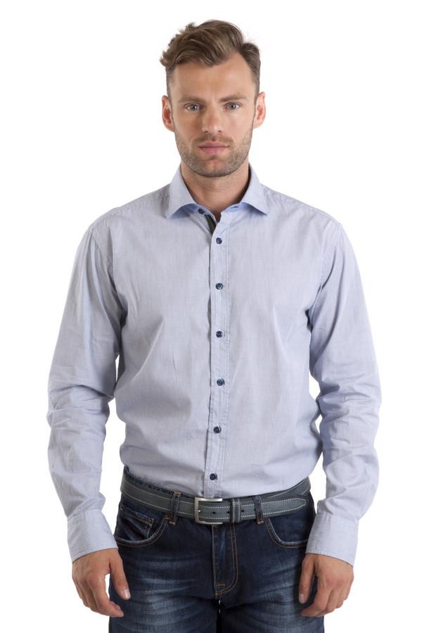 Рубашка с длинным рукавом BugattiДлинный рукав<br>Мужская белая рубашка с рисунком в мелкую клетку синего цвета от бренда Bugatti. Изделие дополнено: отложным воротником, втачными рубашечными рукавами и манжетами с застежкой-пуговица. Рубашка застегивается на планку с пуговицами.<br><br>Размер RU: 41-42<br>Пол: Мужской<br>Возраст: Взрослый<br>Материал: хлопок 100%<br>Цвет: Разноцветный