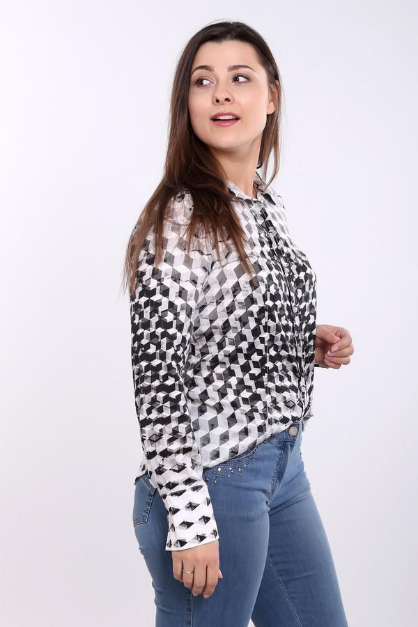 Рубашка с длинным рукавом Otto KernДлинный рукав<br>Рубашка с длинным рукавом Otto Kern. Интересный абстрактный узор этой модели неизменно будет привлекать восторженные взгляды. Черный отложной воротник, плавная линия низа, удлиненные манжеты - ключевые особенности данной модели. Эта рубашка классического силуэта превосходно сочетается с остальными вещами вашего гардероба. Состав ткани: 100%-ный хлопок.<br><br>Размер RU: 48<br>Пол: Женский<br>Возраст: Взрослый<br>Материал: хлопок 100%<br>Цвет: Разноцветный