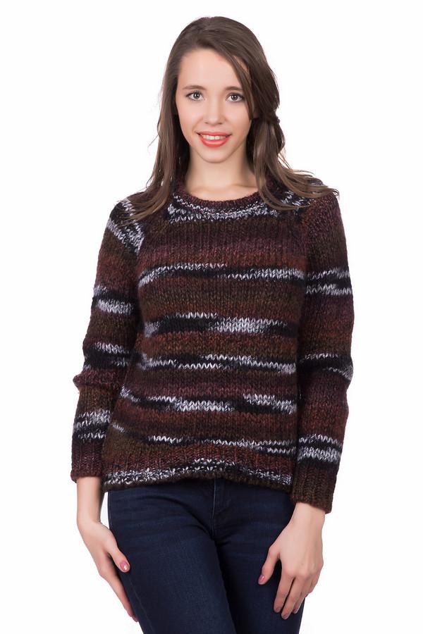 Пуловер SetПуловеры<br>Пуловер Set разноцветный. Эта модель фантазийной расцветки в бордово-черно-серых тонах не оставит вас равнодушными. Округлый вырез горловины, покрой реглан, разная длина изделия – это особенности данного изделия. Носить его зимой – комфортно и тепло! Состав: шерсть плюс полиакрил. Сочетайте эту вещь с самыми разными джинсами, брюками и юбками.<br><br>Размер RU: 48<br>Пол: Женский<br>Возраст: Взрослый<br>Материал: полиакрил 47%, шерсть 53%<br>Цвет: Разноцветный
