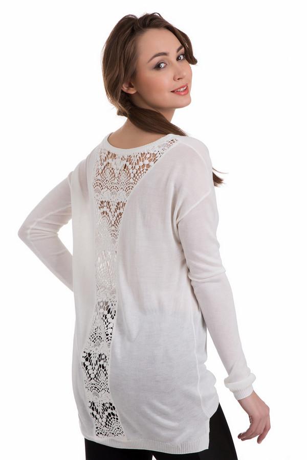 Пуловер Tom TailorПуловеры<br>Пуловер Tom Tailor белый. Эта легкая волшебная модель с ажурными вставками сзади сразу обращает на себя внимание. Предельно простой спереди, сзади этот пуловер снабжен кружевной расширяющейся кверху вставкой. Модель обладает несколько удлиненной спинкой. Состав ткани: полиакрил и вискоза. Эта демисезонная вещь оптимально смотрится с облегающими брюками.<br><br>Размер RU: 44-46<br>Пол: Женский<br>Возраст: Взрослый<br>Материал: вискоза 50%, полиакрил 50%<br>Цвет: Белый