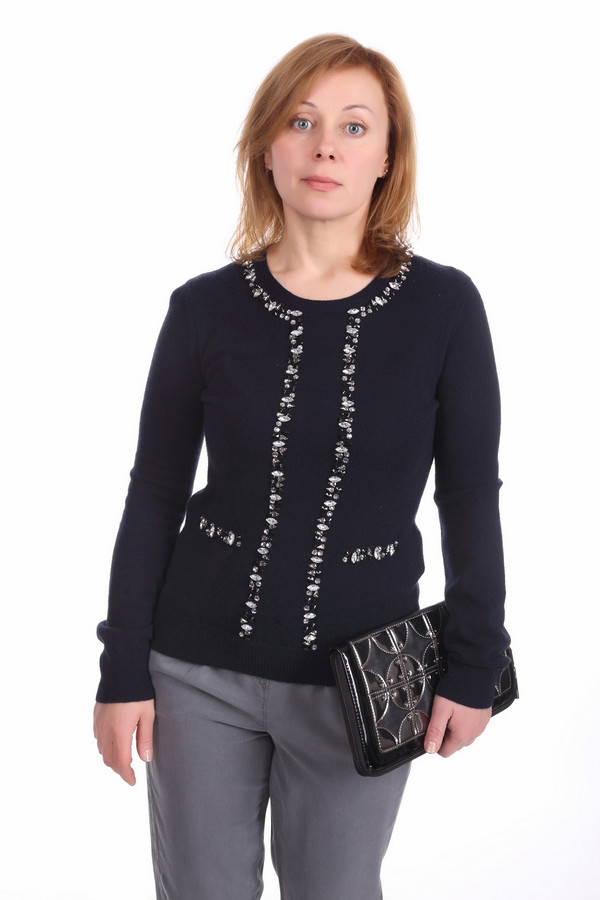 Пуловер Steffen SchrautПуловеры<br><br><br>Размер RU: 42<br>Пол: Женский<br>Возраст: Взрослый<br>Материал: кашемир 100%<br>Цвет: Синий