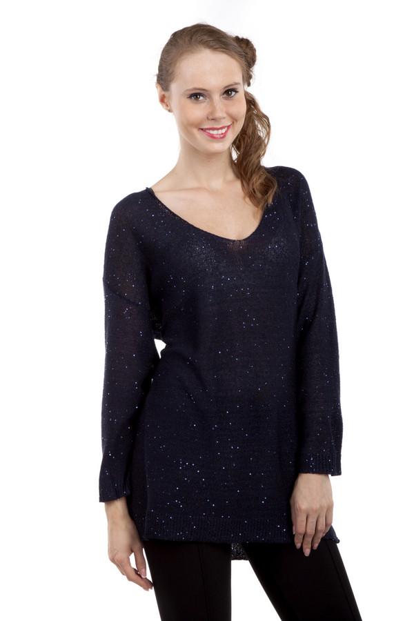 Пуловер Via AppiaПуловеры<br>Пуловер Via Appia фиолетового цвета выполнен по технике свободной вязки, а также украшен блестками. Из-за фактуры вязки пуловер полупрозрачный. Благодаря правильно подобранному крою, одежда удачно подчеркивает фигуру. Такой пуловер будет хорошо смотреться, как с  леггинсами , так и с  брюками .<br><br>Размер RU: 48<br>Пол: Женский<br>Возраст: Взрослый<br>Материал: хлопок 35%, полиэстер 65%<br>Цвет: Фиолетовый