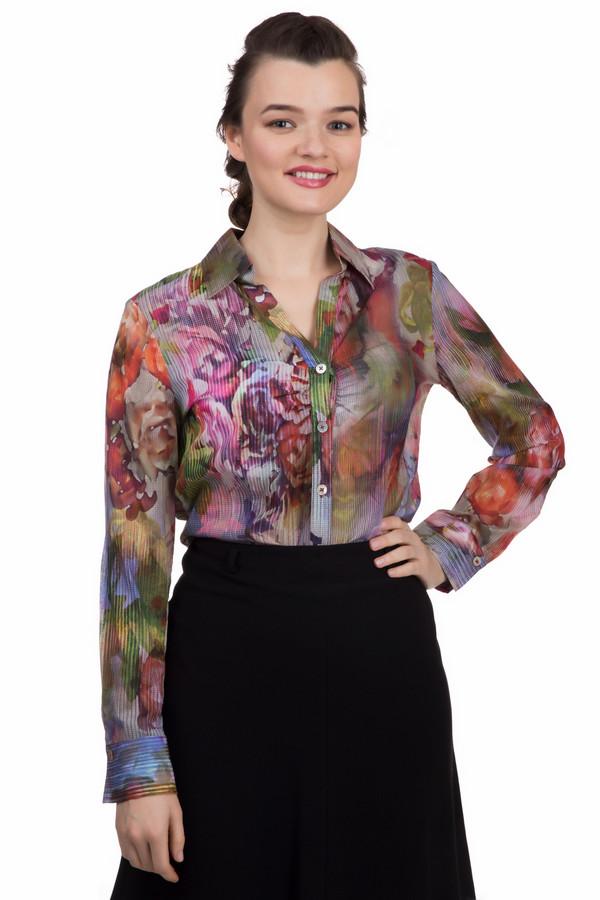 Блузa Frank WalderБлузы<br>Блузa Frank Walder яркой расцветки. Красный, бежевый, коричневый, зелёный, сиреневый и фиолетовый цвета слились воедино в этой обворожительной модели. Носить такие вещи – истинное удовольствие! Эффект гофрированной ткани также выглядит очень мило и свежо. Добавить яркости в свой повседневный образ так просто с предлагаемой блузой! Обратите внимание на замечательную деталь: ткань на груди несколько присборена, что визуально увеличивает грудь. Состав ткани: 100%-ный хлопок.<br><br>Размер RU: 52<br>Пол: Женский<br>Возраст: Взрослый<br>Материал: хлопок 100%<br>Цвет: Разноцветный