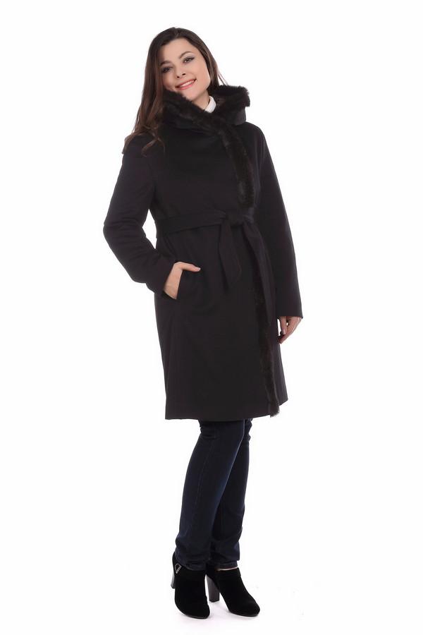 Пальто BaslerПальто<br><br><br>Размер RU: 50<br>Пол: Женский<br>Возраст: Взрослый<br>Материал: шерсть 100%, кролик 100%<br>Цвет: Чёрный