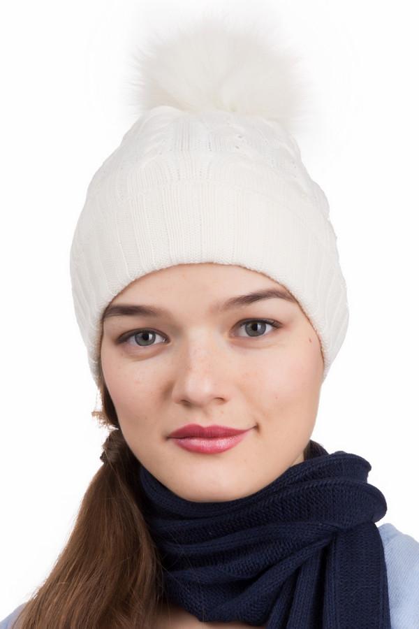 Шапка SeebergerШапки<br>Шапка Seeberger белая. Изюминка данной модели - выполненная узором косичка и двойной отворот (связанный резинкой 3х3), который не даст замерзнуть вашим ушкам даже в холодное время года. Пушистый помпон придаст вашему образу романтичность и шарм. Состав: шерсть, полиакрил. Белый цвет подходит всем женщинам и прекрасно может сочетаться практически с любыми оттенками вашей одежды. Данная модель шапочки сделает ваш образ милым и незабываемым.<br><br>Размер RU: один размер<br>Пол: Женский<br>Возраст: Взрослый<br>Материал: шерсть 30%, полиакрил 70%<br>Цвет: Белый