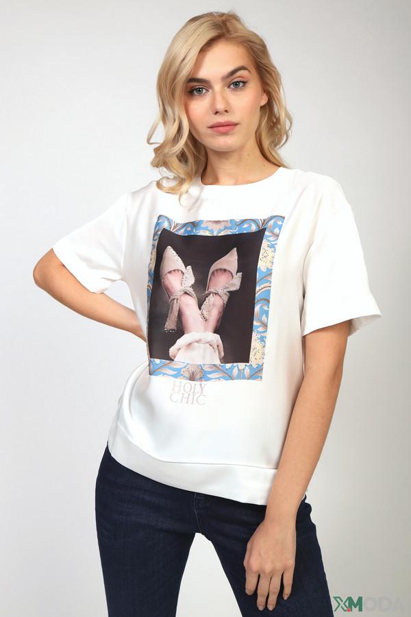 женская футболка rich and royal, белая