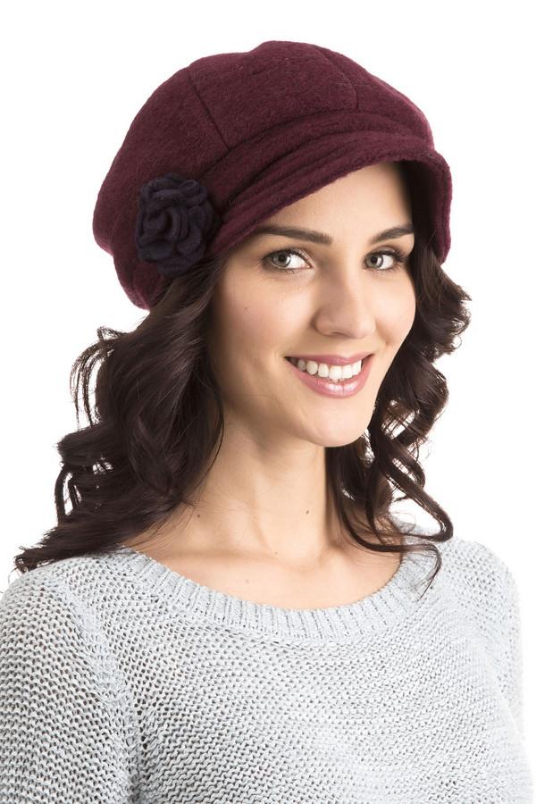 женская кепка wegener, бордовая
