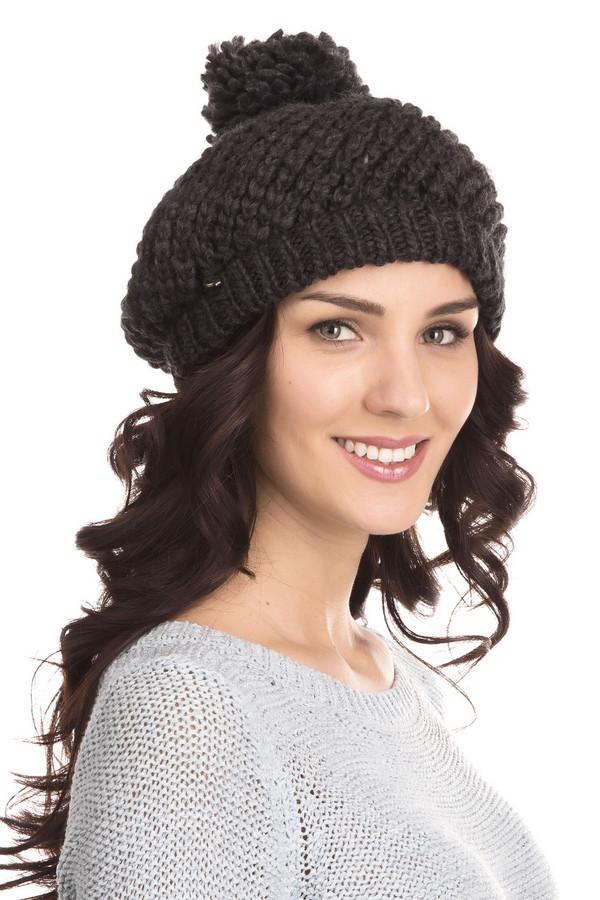Берет SeebergerБереты<br>Вязаный женский берет Seeberger темно-серого цвета. Изготовлен из соединения полиакрила и шерсти. Больше всего подходит для носки в зимний сезон. Модель выполнена машинной вязкой, верх изделия украшен помпоном из той же нитки. Отлично подойдет для любителей уютных и теплых вещей. Будет хорошо сочетаться с теплой верхней одеждой.<br><br>Размер RU: один размер<br>Пол: Женский<br>Возраст: Взрослый<br>Материал: шерсть 30%, полиакрил 70%<br>Цвет: Серый