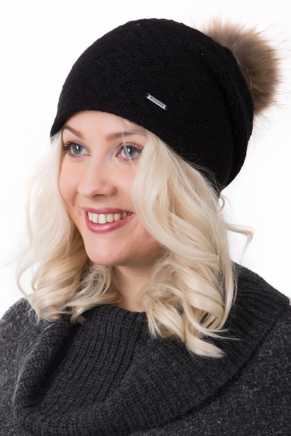 Шапка WegenerШапки<br>Шапка Wegener черная. Эта чудесная модель с пушистым меховым помпоном просто обворожительна. Носите ее с куртками, пальто и шубками – шапочка согреет вас в зимнюю стужу. Отличный и красивый основной узор. Состав: шерсть, полиамид, полиэстер. Подберите подходящий шарфик – и ваш образ просто бесподобен!<br><br>Размер RU: один размер<br>Пол: Женский<br>Возраст: Взрослый<br>Материал: шерсть 50%, полиамид 48%, полиэстер 2%<br>Цвет: Чёрный