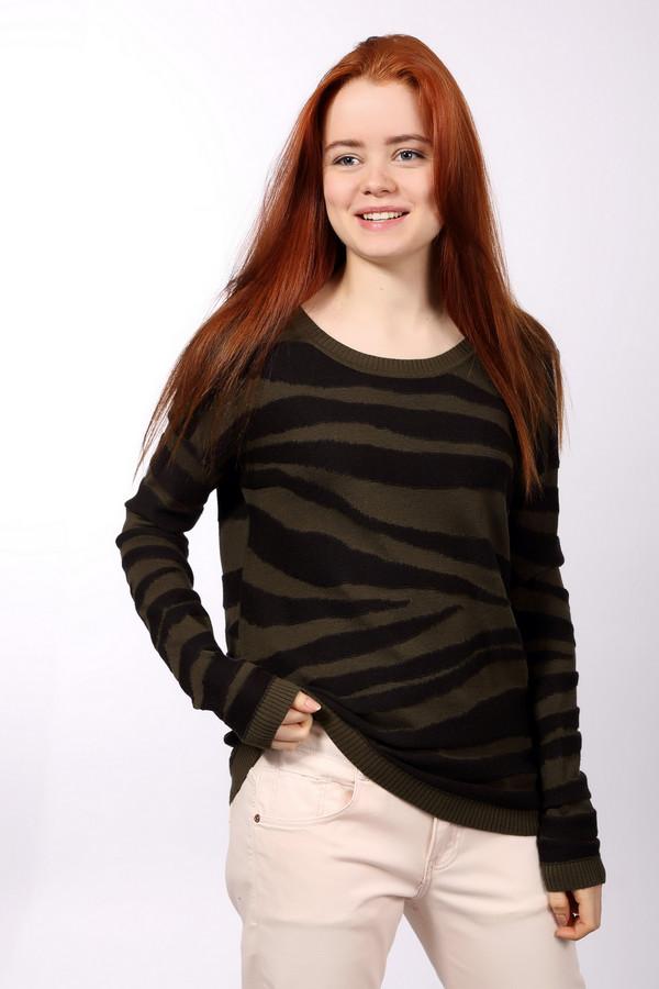 Пуловер s.OliverПуловеры<br>Пуловер s.Oliver женский коричнево-зелёный. Скромность и простота привлекает в этой модели пуловера, но необычный рисунок делает его эффектным. Пуловер выполнен лицевой и изнаночной вязкой. Чудесная вещь для каждодневной носки. Прекрасно подойдет для всех женщин. Отлично смотрится с джинсами, брюками. Практичная и удобная вещь. Состав: хлопок, полиакрил.<br><br>Размер RU: 40<br>Пол: Женский<br>Возраст: Взрослый<br>Материал: хлопок 60%, полиакрил 40%<br>Цвет: Зелёный