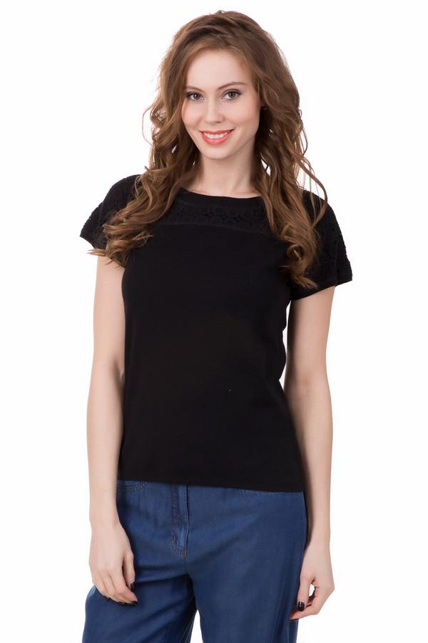 Пуловер Just ValeriПуловеры<br>Пуловер Just Valeri женский черный. Великолепное решение для стильных дам, которые ценят практичность в одежде и любят выделяться из толпы. Кружевная кокетка смотрится очень хорошо и креативно - в таком пуловере с коротким рукавом вы покорите окружающих. Состав: хлопок и кашемир. Демисезонное изделие, которое можно носить под верхнюю одежду или самостоятельно.<br><br>Размер RU: 44<br>Пол: Женский<br>Возраст: Взрослый<br>Материал: хлопок 95%, кашемир 5%<br>Цвет: Чёрный