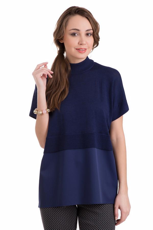Пуловер Just ValeriПуловеры<br>Милый и изящный женский пуловер Just Valeri, сочетающий два оттенка синего цвета. Он придаст женственности и миловидности облику. Модель целиком изготовлена из шерсти мерино. В демисезон этот пуловер будет идеальным для носки. Пуловер, дополнен отрезной кокеткой чуть выше линии талии, рукава короткие.<br><br>Размер RU: 50<br>Пол: Женский<br>Возраст: Взрослый<br>Материал: шерсть мерино 100%<br>Цвет: Синий