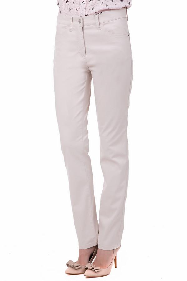 Брюки PezzoБрюки<br>Привлекательные женские брюки Pezzo бежевого цвета очень светлого оттенка. Эти, практически молочного цвета брюки, наиболее удобны в летний сезон. Они красивы и практичны, изготовлены из хлопка и эластана. Покрой прямой, дополнена модель удобными карманами. В таких брюках любая женщина будет выглядеть потрясающе.<br><br>Размер RU: 42<br>Пол: Женский<br>Возраст: Взрослый<br>Материал: эластан 3%, хлопок 97%<br>Цвет: Бежевый