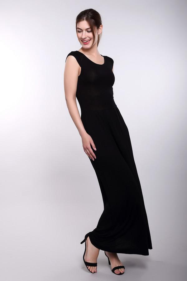 Платье Just ValeriПлатья<br>Утонченное черное платье Just Valeri придется к лицу любой девушке, которая его наденет. Оно приталено, подчеркивает формы груди и ягодиц, от которых расходится широкая юбка-макси. Округлый вырез декольте очень выигрышно смотрится. Пошито это изделие из вискозы и спандекса. В этом платье будет наиболее комфортно в летний сезон.<br><br>Размер RU: 48<br>Пол: Женский<br>Возраст: Взрослый<br>Материал: вискоза 95%, спандекс 5%<br>Цвет: Чёрный