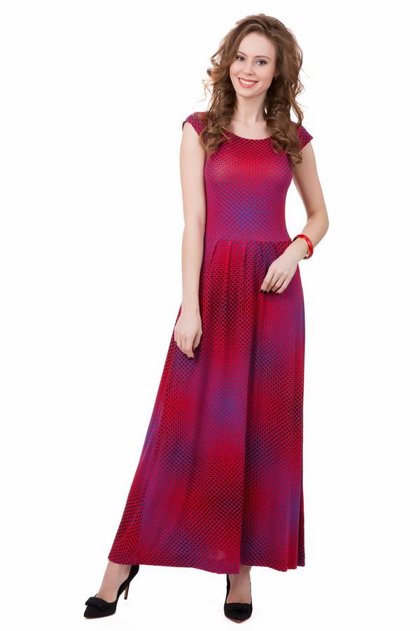 Платье Just ValeriПлатья<br>Необычное платье Just Valeri со сложным геометрическим узором из красных и синих пятен привлечет к себе не один заинтересованный взгляд. Особый покрой, в котором верхняя часть приталена, а подол до пола расклешенный, делает его подходящим для любого типа фигуры. Изготовлена модель из вискозы и спандекса. Лучше всего подходит для носки летом.<br><br>Размер RU: 40<br>Пол: Женский<br>Возраст: Взрослый<br>Материал: вискоза 95%, спандекс 5%<br>Цвет: Синий