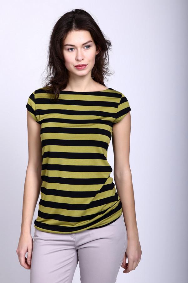 Футболка PezzoФутболки<br>Желто-черная полосатая женская футболка Pezzo с горизонтальными полосами не только напоминает своим видом осу, но и подчеркивает осиную талию девушки благодаря легкой приталенности. Рукава совсем короткие, держится футболка буквально на краю плеч. Изделие пошито из эластана и вискозы. В летний период такая футболка становится наиболее актуальной.<br><br>Размер RU: 48<br>Пол: Женский<br>Возраст: Взрослый<br>Материал: эластан 5%, вискоза 95%<br>Цвет: Жёлтый
