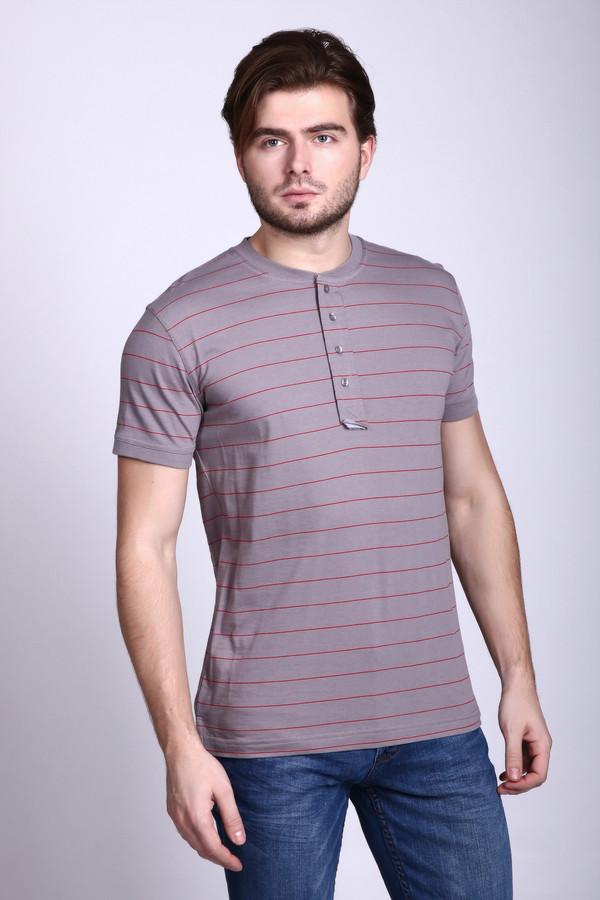 Футболкa PezzoФутболки<br>Практичная мужская футболка Pezzo сочетает серый основной цвет и красные тонкие горизонтальные полоски. Это классическая рубашка поло - короткий рукав, и застегивается на четыре пуговки под горлом. Единственное отличие - отсутствие воротника. В состав изделия входит чистый хлопок. В летнее время в такой рубашке будет очень комфортно.<br><br>Размер RU: 56<br>Пол: Мужской<br>Возраст: Взрослый<br>Материал: хлопок 100%<br>Цвет: Красный