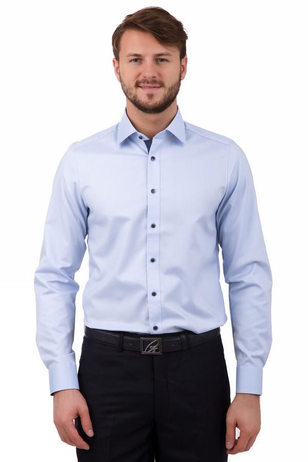 Рубашка с длинным рукавом OlympДлинный рукав<br>Классическая мужская рубашка от Olymp светло-голубого цвета станет отличным дополнением под любой костюм, брюки или даже джинсы. Изделие пошито из хлопка, что делает его мягким и удобным для ношения. Особенностью этой рубашки являются маленькие узоры в виде ромбов, которые придают ей оригинальности. А чёрно-голубые пуговицы отлично выделяются на светлом фоне, что делает обладателя данного изделия ещё более заметным среди толпы. Рубашка сделана с длинными рукавами, поэтому её можно носить в любую погоду.<br><br>Размер RU: 38<br>Пол: Мужской<br>Возраст: Взрослый<br>Материал: эластан 3%, хлопок 97%<br>Цвет: Голубой